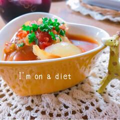 和食/ダイエット/燃焼スープ/夜ごはん/おうちごはん え、体重もう減ってる(*゚▽゚*) 燃焼…
