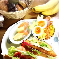 三男シェフ♡/サンドイッチ/朝ごはん/おうちごはん *朝ごはん*  三男くんがシェフ♡ ゆで…