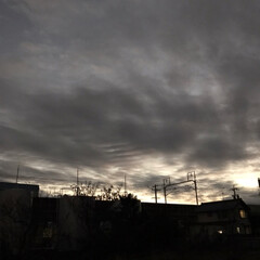 左義長/空/冬17じ半の西の空/冬19じ前の月夜🌛/冬の夜景/火渡り/... 空気の澄んだ夕方の西の空  引き込まれそ…
