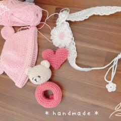 アートフレーム/景色風景/娘の手作り/無事にまごっち2人め♡/ハンドメイド/手作り/... *handmade*  娘がかぎ針で編み…(1枚目)
