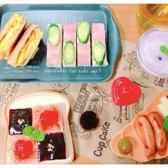 サンドイッチ/グルメ/フード/おうちごはん *7月1日* おやすみの日の朝食(*´꒳…