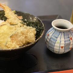 ランチ 今日は買い物のに行って、ご飯には天ぷらそ…