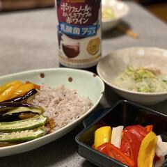 カレー/夜ご飯 今日は夏野菜カレー💕 私は食べないけどね…