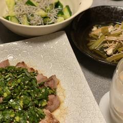 ニラダレ/夜ご飯 やっとやっとニラダレ作ったぁ~🎵 トラの…(1枚目)