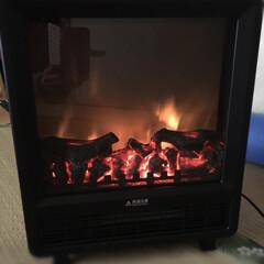 暖炉/暖房/冬 ずっと欲しかった暖炉風ヒーターが、安くな…