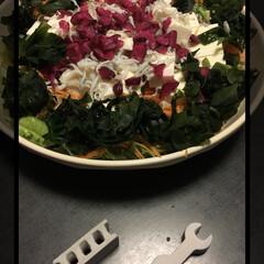 箸置き/サラダ/セリア/100均 今日友達が、豆腐サラダをお店で食べて美味…