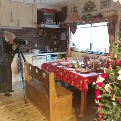 雑誌の取材・撮影/テーブルコーディネート/クリスマスツリー/クリスマスインテリア/クリスマス/100均/... 今日、またまた雑誌の取材・撮影がありまし…
