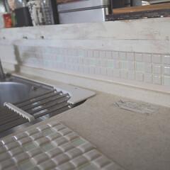 モザイクタイル プチコレガラスMIX ホワイト | 藤垣窯業(その他建築用タイル)を使ったクチコミ「LIMIAのモニターでいただいた藤垣窯業…」(9枚目)