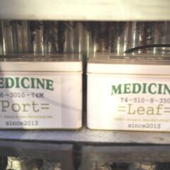 シンプル/リメ缶/空き缶/救急箱/シール/ラベル/... こちらの缶は、以前薬局からいただいたもの…
