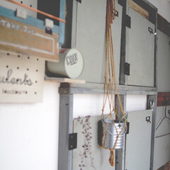 ウォールディスプレイ/ロッカー風/廊下/アイデア投稿もしています/インスタグラムやってます/ブログ書いてます/... 廊下の壁には、ロッカー風のスペースを作っ…