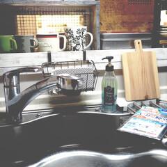 お掃除/キッチン雑貨/ピカッと輝くシート/ビオレu泡ハンドソープ/キュキュット/シンク/... ピカッと輝くシートが普段使わない引き出し…