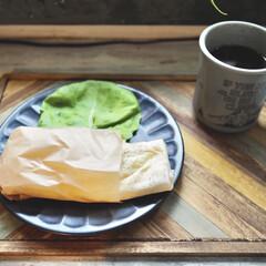 マグカップ キントー KINTO スローコーヒースタイル マグ 400ml グレー Slow Coffee Style | キントー(マグカップ)を使ったクチコミ「久々にブリトー🌯が食べたくなったので、 …」