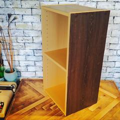 アイデア投稿もしています/カラーボックスリメイク/カラーボックス/新生活/DIY/住まい/... カラーボックスをリメイクし始めました。 …