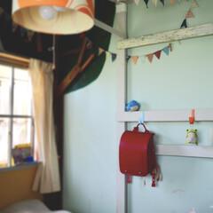 子供部屋インテリア/ランドセル/アイデア投稿もしています/ぬいぐるみ収納/ぬいぐるみ/子供部屋/... セルフリノベーションした子供部屋です。 …
