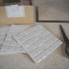 モザイクタイル プチコレガラスMIX ホワイト | 藤垣窯業(その他建築用タイル)を使ったクチコミ「LIMIAのモニターでいただいた藤垣窯業…」(3枚目)