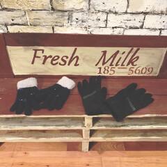 キッズベンチ/パレット/リミアな暮らし/DIY/雑貨/住まい/... おばあちゃんが孫たちに手袋を買ってくれま…