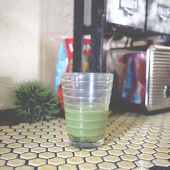 iittala/青汁オーレ/タイル/limiaキッチン同好会/DIY/キッチン雑貨/... キッチンのタイルカウンターです。 diy…