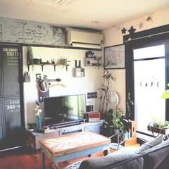 ペイント/インスタグラムやってます/ブログ書いてます/うららかものづくりCafe/珪藻土/テーブル/... いろいろDIYしているお部屋です。  こ…