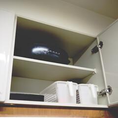 山善 キャセロール2枚組みホットプレート BHJ−W120−H | 山善(ホットプレート)を使ったクチコミ「おはようございます🌞 吊り戸棚にあまり使…」