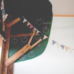 ペイント/壁面ディスプレイ/子供部屋/DIY/雑貨/住まい/... 娘の子供部屋です。 小学生なので 可愛く…