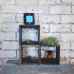 KLOCKIS クロッキス | イケア(置き時計)を使ったクチコミ「セリアのキューブボックスをペイントしまし…」