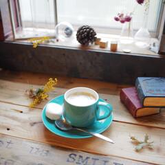 アイデア投稿もしています/インスタグラムやってます/ブログ書いてます/うららかものづくりCafe/カップアンドソーサー/コーヒー/... たまには甘〜いコーヒーでおうちカフェタイ…