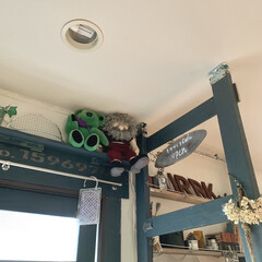 DIY 棚 壁 柱 ツーバイ材用 2×4材用突っぱりジャッキ ユニクロ Walist ウォリスト(その他DIY、業務、産業用品)を使ったクチコミ「ぬいぐるみ収納。。。 置き場に困りますよ…」