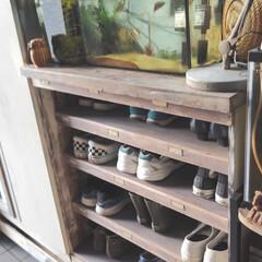 ターナー色彩 オールドウッドワックス スモークグレー 350ml | ターナー(ワックス)を使ったクチコミ「靴の収納、悩みますよね😅 我が家も、靴箱…」