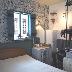寝室インテリア/インテリア/DIY/雑貨/100均 モロッコ風の寝室です。