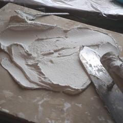 お気に入りの施工道具/インスタグラムやってます/ブログ書いてます/うららかものづくりCafe/私のお気に入り/フォロー大歓迎/... 壁に珪藻土を塗りました。 鏝板(こていた…