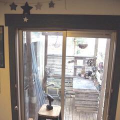 窓/今年もありがとうございました/インスタグラムやってます/ブログ書いてます/うららかものづくりCafe/2018/... 少し前からリビングの窓周りをdiyで改造…
