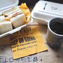 おうちカフェ/サンドイッチ/コーヒー/KINTO/マグカップ/キッチン雑貨/... こんにちはーーー♪ 今日のランチは、サン…