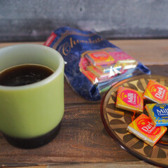 ほっと一息/チョコレート/コーヒー/おやつ/おうちカフェ/キッチン雑貨/... ある日のおやつ〜♪ 甘いものか食べたくな…