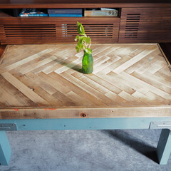 コーヒーテーブル/アイデア投稿もしています/インスタグラムやってます/ブログ書いてます/うららかものづくりCafe/テーブル/... IKEAのテーブルをリメイクしました。 …