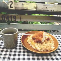 マグカップ キントー KINTO スローコーヒースタイル マグ 400ml グレー Slow Coffee Style | キントー(マグカップ)を使ったクチコミ「お天気のいい日は、リビングでランチ♪ 元…」