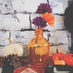ターナー色彩/ガラスペイント/ハロウィン2019/100均/DIY/雑貨/... おはようございます🌞  ガラス瓶をガラス…