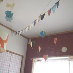 黒板/ミルクペイントforウォール/ペイント/カフェ風/キッズルーム/子供部屋/... 先日ペイントした子供部屋の壁です。  ミ…