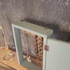 東急ハンズ ガリレオ温度計 ノーマルL GA1071207(温湿度計)を使ったクチコミ「端材を使って、アクセサリー収納をdiyし…」(2枚目)