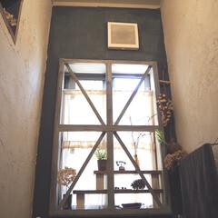 窓枠DIY/漆喰/ミルクペイントforウォール/ペイント/ドライフラワー/ブログも書いてます/... ハロウィンが終わり、ハロウィン色の強い小…