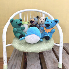 おもちゃ収納/子供部屋インテリア/子供部屋/収納/100均/ダイソー/... ぬいぐるみ、ほんとにたくさんあります。 …