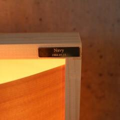 北欧家具/真鍮プレート/オーダーメイド/刻印/北欧インテリア 真鍮プレート装着例