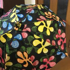 ファッション/雑貨/ハンドメイド/日傘/アフリカンバティック/アフリカの生地/... アフリカンバティックで日傘作りました🎶 …