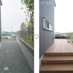モダン/シンプル/ナチュラル/スタイリッシュ/デザイン/デザイナー/... 新たに植えた植栽は成長すると隣家の視線を…