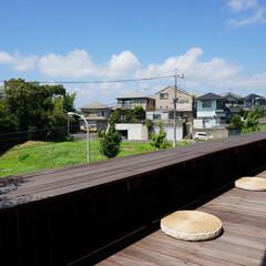 モダン/シンプル/ナチュラル/スタイリッシュ/デザイン/デザイナー/... 建売住宅の庭にウッドデッキを作るプロジェ…