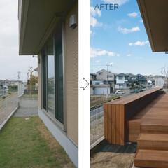 モダン/シンプル/ナチュラル/スタイリッシュ/デザイン/デザイナー/... 床と地面の間の高低差を解消するために、床…