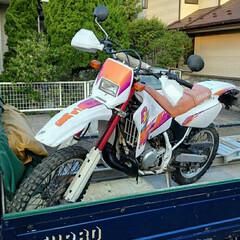 ワンオーナー/バイク/YAMAHA/ヤマハ/DT200WR/全塗装/... 譲り受けた不動のバイクをキャブのオーバー…