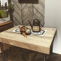 脚/パイプ/phj古材/机/テーブル/DIY/... 古材のテーブルを作りました!! 物撮りす…