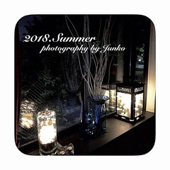 夏の夜/窓辺/雑貨/夏インテリア/インテリア/イケア/... ガラス素材で目に涼しく、夏の窓辺を飾って…