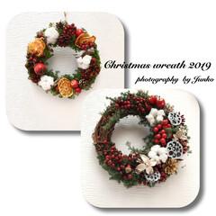 クリスマスインテリア雑貨/クリスマスインテリア/クリスマス/リース手作り/リース/クリスマスリース/... 手を出してしまいました。クリスマスリース…