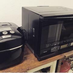 オーブンレンジ/炊飯器/キッチン雑貨/キッチン/フード 今日買った黒家電。